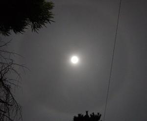 満月(月齢 14.5) 2015.01.05 22:17 静岡市葵区平野部 東の空