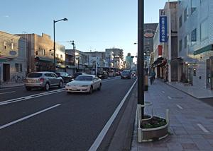静岡県道67号静岡清水線(北街道) 横内町付近