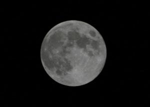 満月(月齢 14.1) 2013.09.19 20:59 静岡市葵区平野部