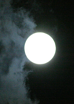 スーパームーン 月齢 15.3 2015.09.28 22:00 静岡市葵区平野部 東の空