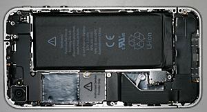 iPhone4のバッテリー