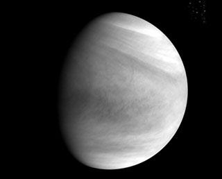 紫外イメージャ(UVI)で撮影した金星(12月7日)  ※ 提供:宇宙航空研究開発機構(JAXA)<br />