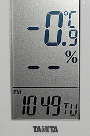 気温 -0.9℃ 2016.01.19 22:49 静岡市葵区平野部
