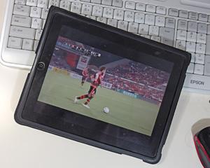 iPadによるスカパーJリーグ中継