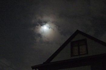 中秋の月 月齢 14.2 2016.09.15 23:31 静岡市葵区平野部 南の空
