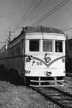 長沼工場の路面電車(清水市内線) 1974.12.08