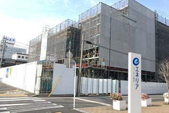 建設中の新NHK静岡放送会館