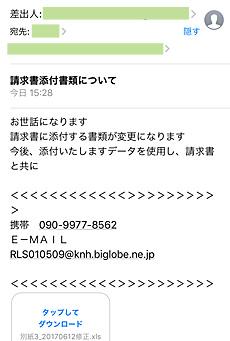 ウイルス付メール