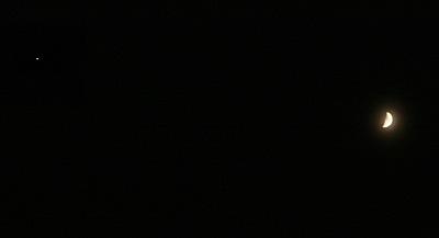 月と木星 20167.06.30 20:30 静岡市葵区平野部 南西の空