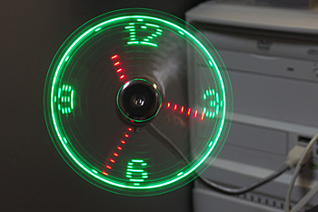 >USB CLOCK FAN