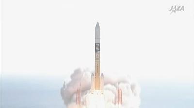「しきさい」と「つばめ」を搭載したH-IIAロケット37号機の打ち上げ ※JAXAのサイトから画像引用