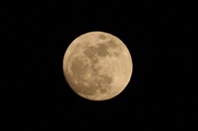 満月 十五夜の月(月齢 14.2) 2018.01.01 17:23 静岡市葵区平野部 東の空