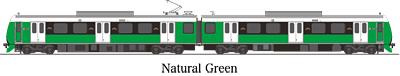 A3000形 ナチュラル・グリーン