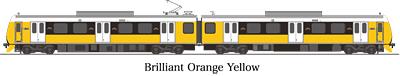 A3000形 ブリイアント・オレンジ・イエロー