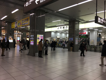Yahoo! MAP 混雑レーダーで表示した時のJR静岡駅の様子