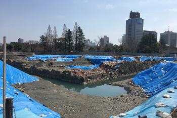 駿府城公園の天守台の石垣