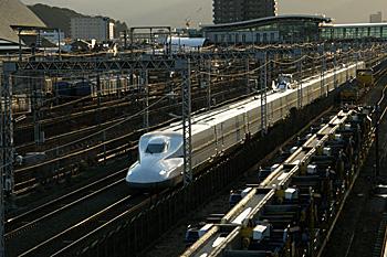 N700系東海道新幹線 JR東静岡駅付近