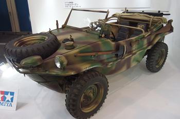 旧ドイツ軍 四輪駆動の水陸両用車「シュビムワーゲン」 (実物 タミヤブース)