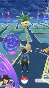 首の長いナッシーが出現 ※ Pokémon GOから画像引用