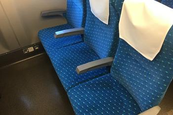 東海道新幹線N700A普通車両の座席