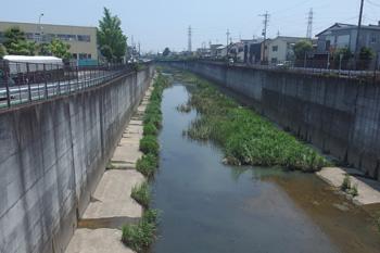 大谷川放水路(静岡市駿河区池田付近)