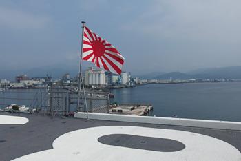 この方向に天気がよければ富士山が見える
