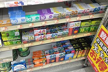 静岡市内の家電量販店のカセットテープ売り場
