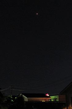 火星 2018.08.19 21:14 静岡市葵区平野部 東南東の空