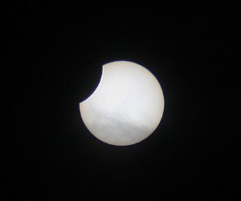 部分日食 食分 0.15  2019.01.06 11:08 静岡市平野部 南の空