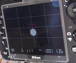 Nikon D610 ライブビューで見た太陽