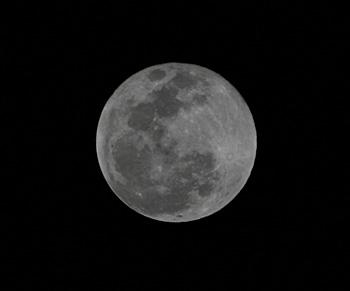 満月(月齢 15.4) 2019.01.21 20:51 静岡市葵区平野部 東の空