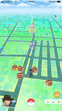 ウリムーが大量発生 ※ Pokémon GOから画像引用