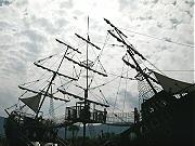 広野公園の難破船を模したアスレチック