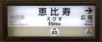 東京地下鉄(東京メトロ) 恵比寿駅 2番ホーム(日比谷線)