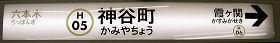 東京地下鉄(東京メトロ) 神谷町駅 2番ホーム(日比谷線)