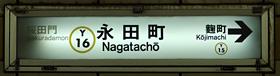東京地下鉄(東京メトロ) 永田町駅 1-2番ホーム(有楽町線)