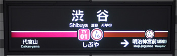 東京地下鉄(東京メトロ) 渋谷駅 5-6番ホーム(東横線 東京地下鉄・副都心線)