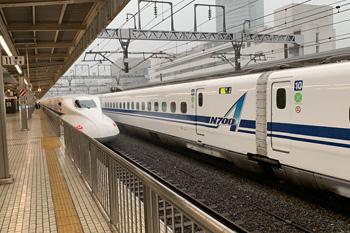 JR静岡駅 東海道新幹線下り(6番)ホーム 2019.05.21 6:48